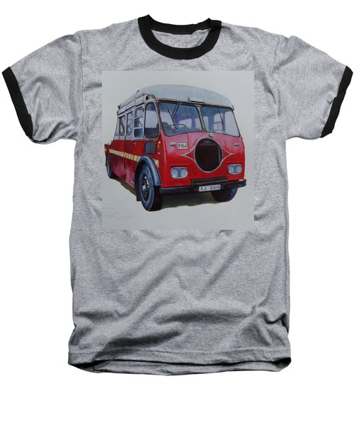 Baseball T-Shirt featuring the painting Leyland Wrecker Cie by Mike Jeffries