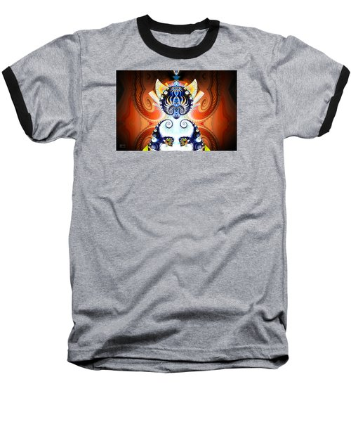 Li Shou - Ancient Chinese Cat Goddess Baseball T-Shirt by Jim Pavelle