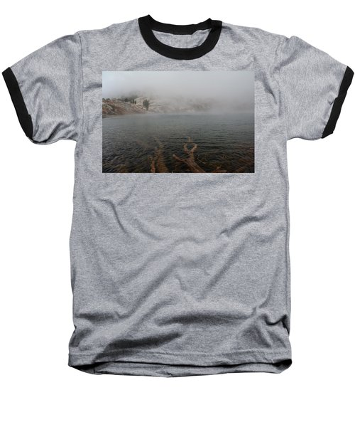 Baseball T-Shirt featuring the photograph Liberty Lake In Fog by Jenessa Rahn