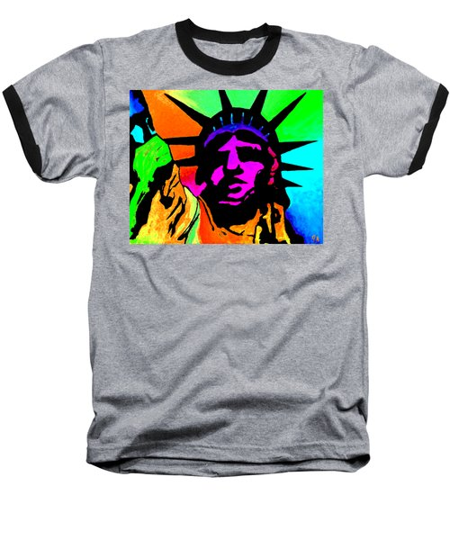Liberty Of Colors - Saturated Hue Baseball T-Shirt
