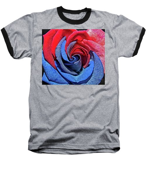 Baseball T-Shirt featuring the photograph Liberty Rose by Judy Vincent