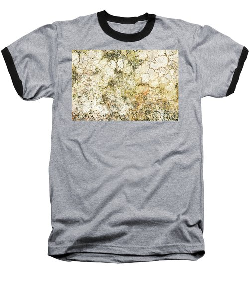 Baseball T-Shirt featuring the photograph Lichen On A Stone, Background by Torbjorn Swenelius