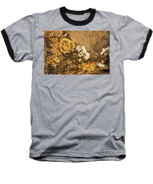 Baseball T-Shirt featuring the photograph Lichen On The Piran Walls by Stuart Litoff