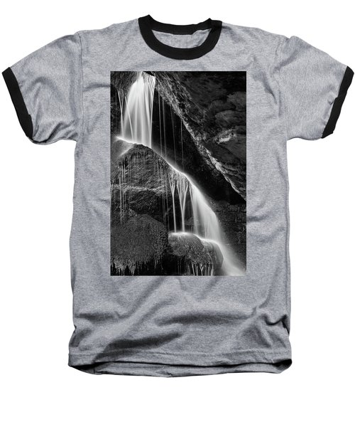 Lichtenhain Waterfall - Bw Version Baseball T-Shirt