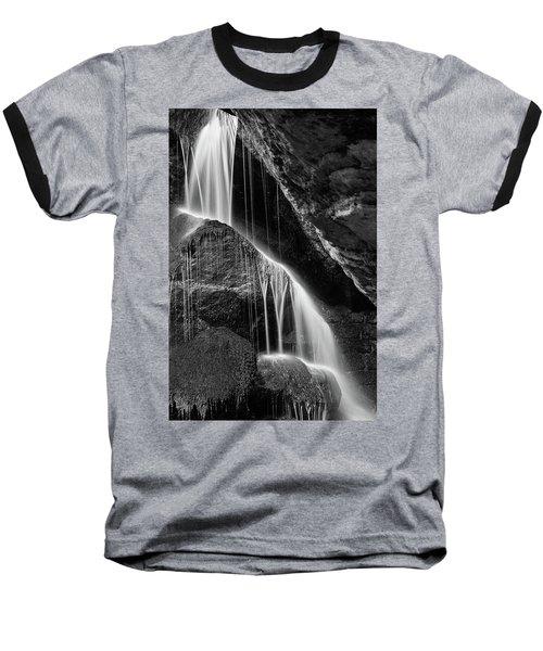 Lichtenhain Waterfall - Bw Version Baseball T-Shirt