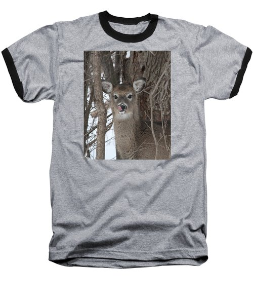 Baseball T-Shirt featuring the photograph Licking Her Lips by Doris Potter