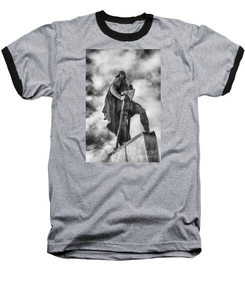 Baseball T-Shirt featuring the photograph Lief Ericsson Reykjavik by Rick Bragan