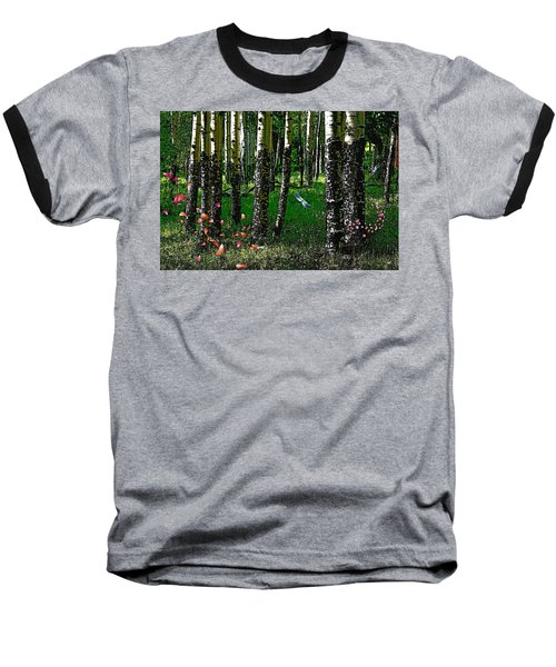 Life Among The Aspens Baseball T-Shirt