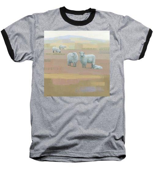 Life Between Seams Baseball T-Shirt by Steve Mitchell