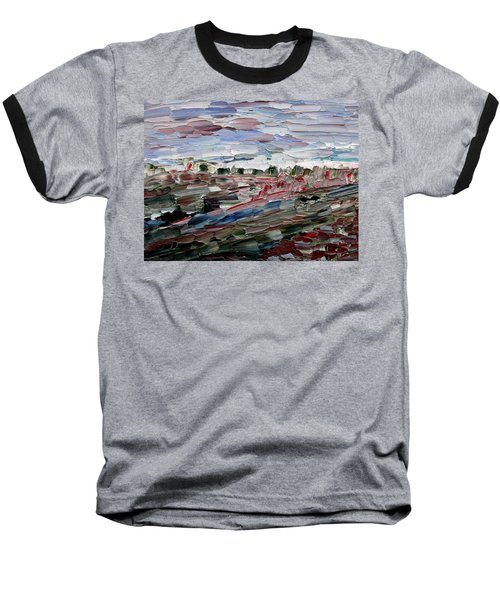 Baseball T-Shirt featuring the painting Life Goes On by Vadim Levin