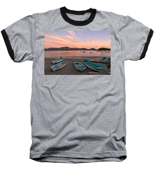 Life In A Fishing Village Baseball T-Shirt by Jim Walls PhotoArtist