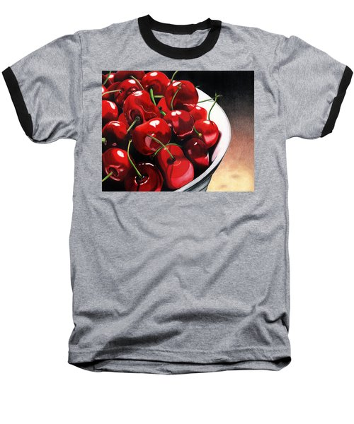 Baseball T-Shirt featuring the painting Life Is.... by Angela Armano