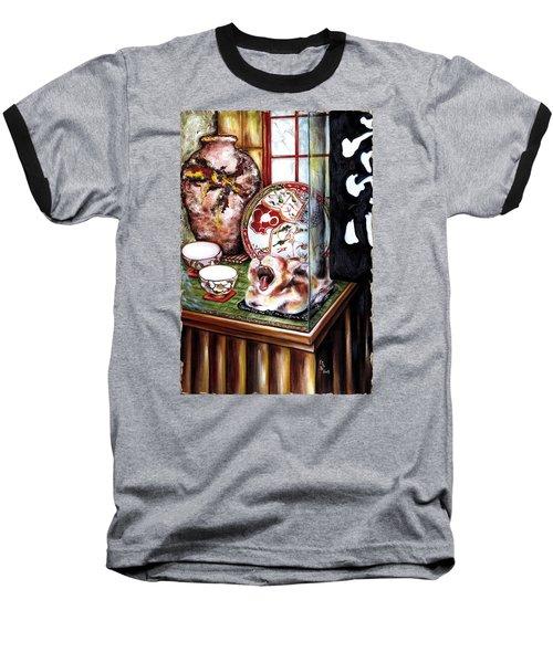 Baseball T-Shirt featuring the painting Life Is Beautiful by Hiroko Sakai
