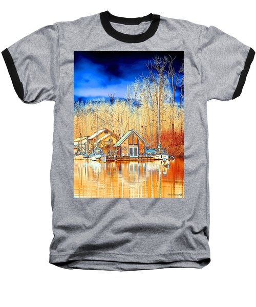 Life On The River Baseball T-Shirt by Steve Warnstaff