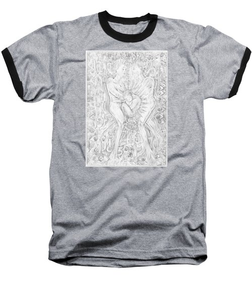 Baseball T-Shirt featuring the mixed media Life Series 5 by Giovanni Caputo