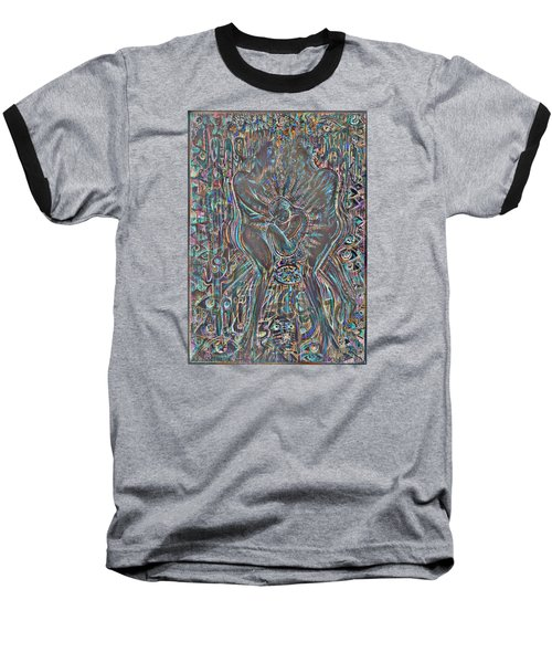 Baseball T-Shirt featuring the mixed media Life Series 7 by Giovanni Caputo