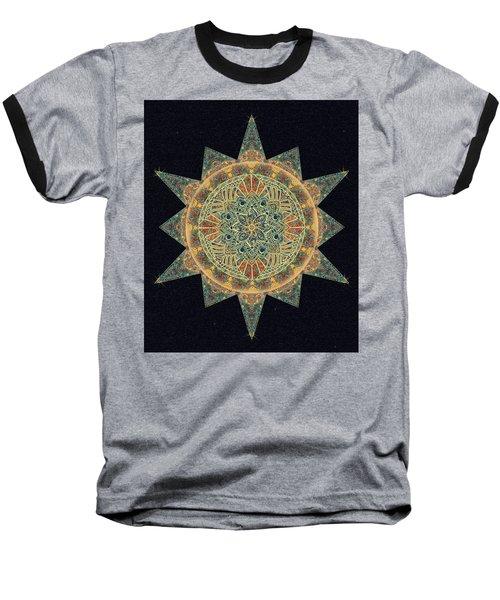 Baseball T-Shirt featuring the drawing Life Star Mandala by Deborah Smith