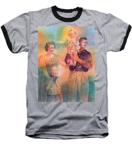 Life Was Good, Circa 1957 Baseball T-Shirt by Tara Moorman