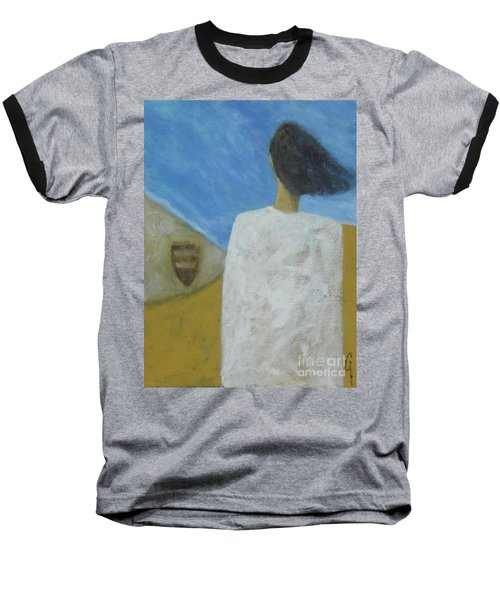Baseball T-Shirt featuring the painting Lifeboat by Glenn Quist