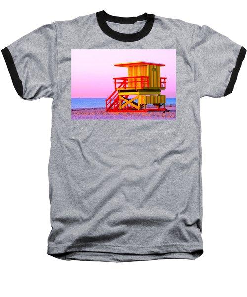 Lifeguard Stand Miami Beach Baseball T-Shirt