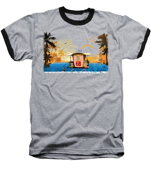 Lifeguard Station 6b Baseball T-Shirt