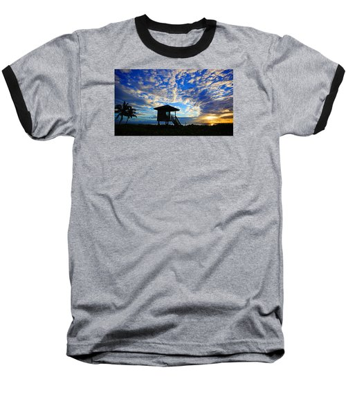Lifeguard Station Sunrise Baseball T-Shirt