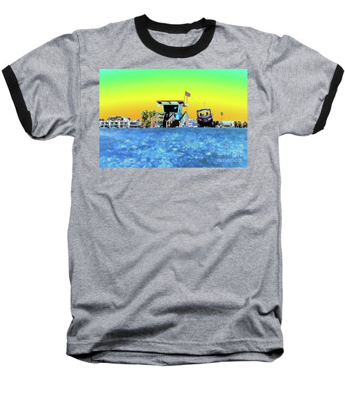 Lifeguard Tower 1 Baseball T-Shirt