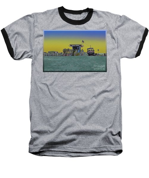 Lifeguard Tower 4 Baseball T-Shirt