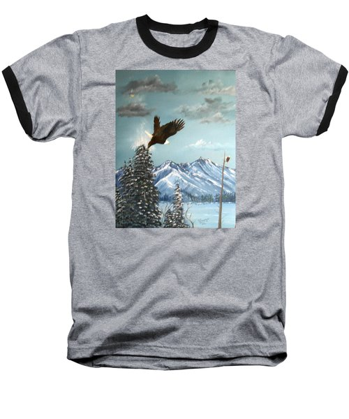 Lift Off Baseball T-Shirt by Al  Johannessen