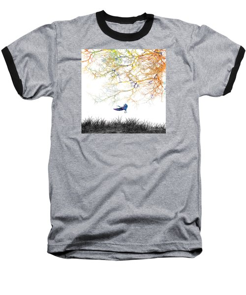 Baseball T-Shirt featuring the painting Lift Off by Trilby Cole