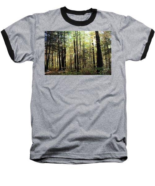 Light Among The Trees Baseball T-Shirt by Felipe Adan Lerma