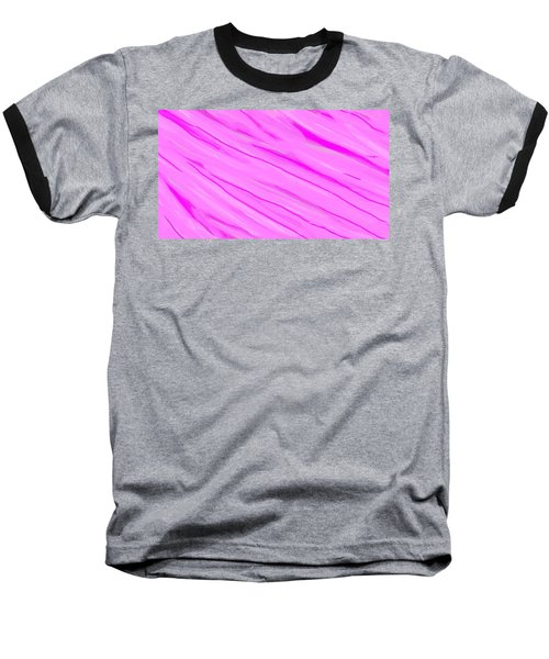 Light And Dark Pink Swirl Baseball T-Shirt