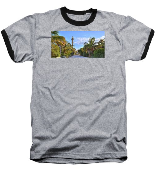 Light At The End Of The Road Baseball T-Shirt by Sean Allen