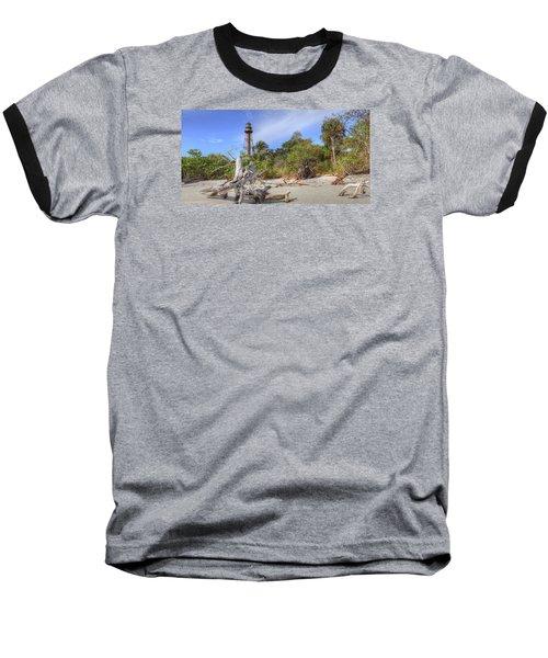 Light Behind The Stump Baseball T-Shirt by Sean Allen