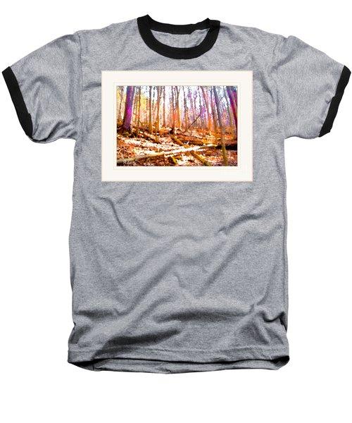Light Between The Trees Baseball T-Shirt by Felipe Adan Lerma