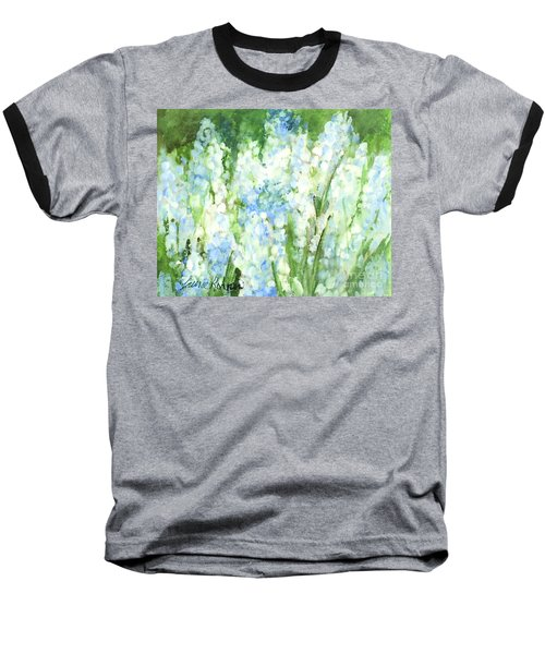 Light Blue Grape Hyacinth. Baseball T-Shirt by Laurie Rohner