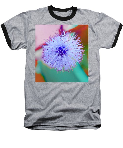 Light Blue Puff Explosion Baseball T-Shirt