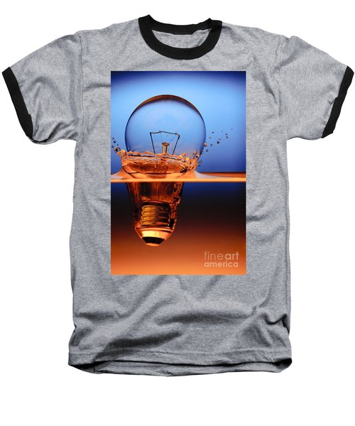 Baseball T-Shirt featuring the photograph Light Bulb And Splash Water by Setsiri Silapasuwanchai