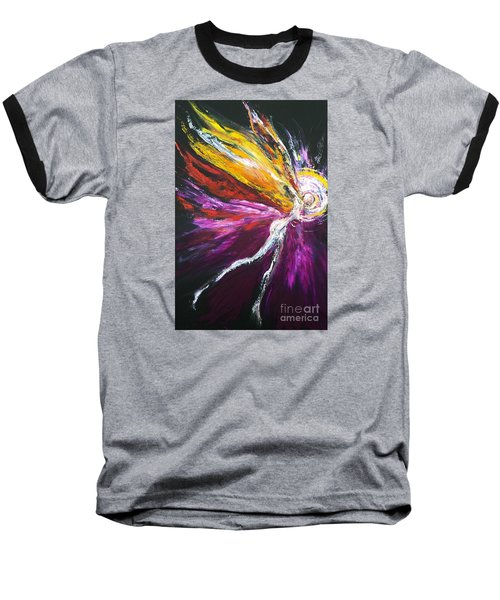 Baseball T-Shirt featuring the painting Light Fairy by Marat Essex