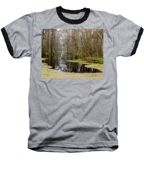 Light Fog On The Swamp Baseball T-Shirt