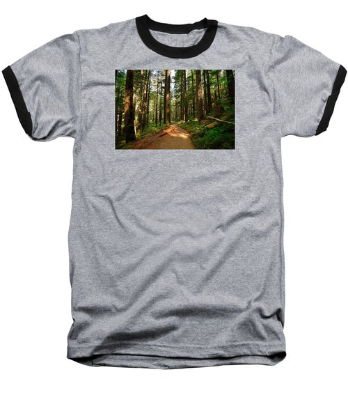 Baseball T-Shirt featuring the photograph Light In The Forest by Lynn Hopwood
