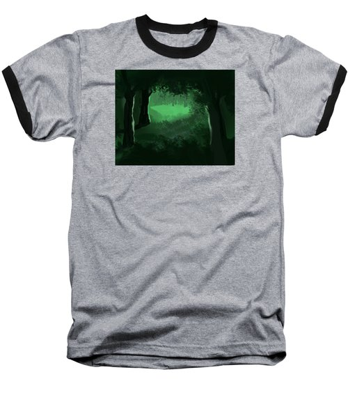 Baseball T-Shirt featuring the digital art Light In The Forest by Walter Chamberlain