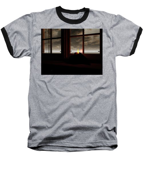 Light In The Window Baseball T-Shirt by Michele Wilson