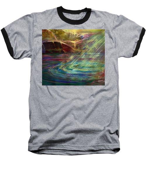 Light In Water Baseball T-Shirt by Allison Ashton