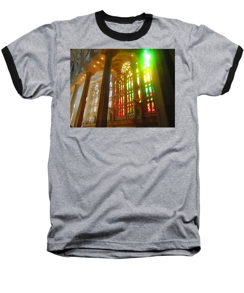Light Of Gaudi Baseball T-Shirt by Christin Brodie