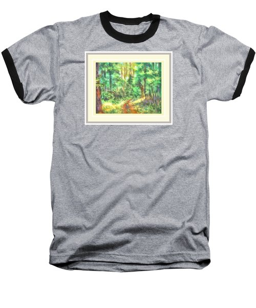 Baseball T-Shirt featuring the photograph Light On The Path by Shirley Moravec