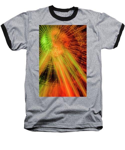 Light Painting At Night Baseball T-Shirt