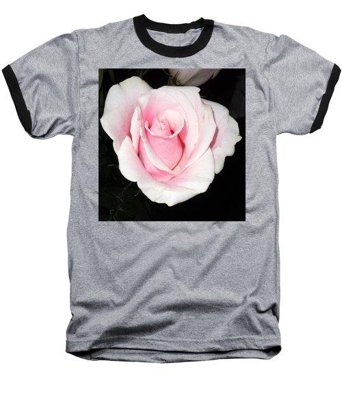 Light Pink Rose Baseball T-Shirt by Karen J Shine