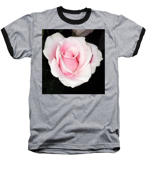 Light Pink Rose Baseball T-Shirt