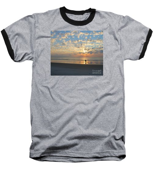 Light Run Baseball T-Shirt by LeeAnn Kendall